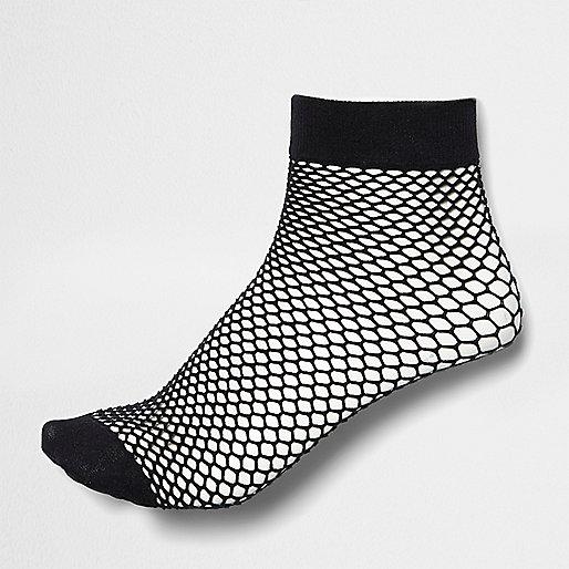 Girls black fishnet socks