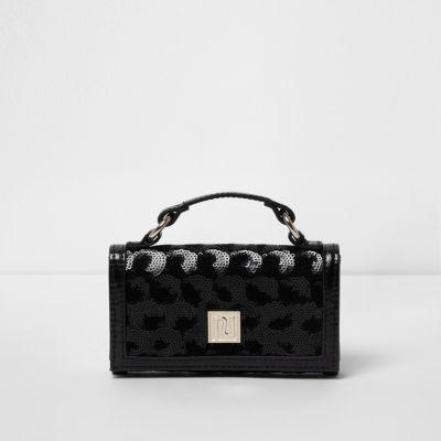 548ff4326bd Zwarte metallic portemonnee voor meisjes met lovertjes - Tassen &  Portemonnees - Sale - Meisjes