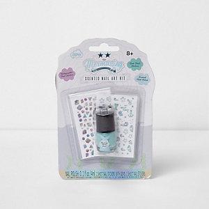Girls Mermazing mermaid scented nail art kit