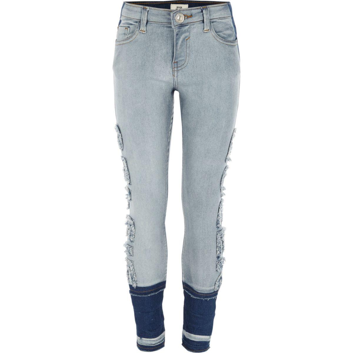 """Amelie – Blaue Skinny Jeans mit """"Selfie Queen""""-Schriftzug"""