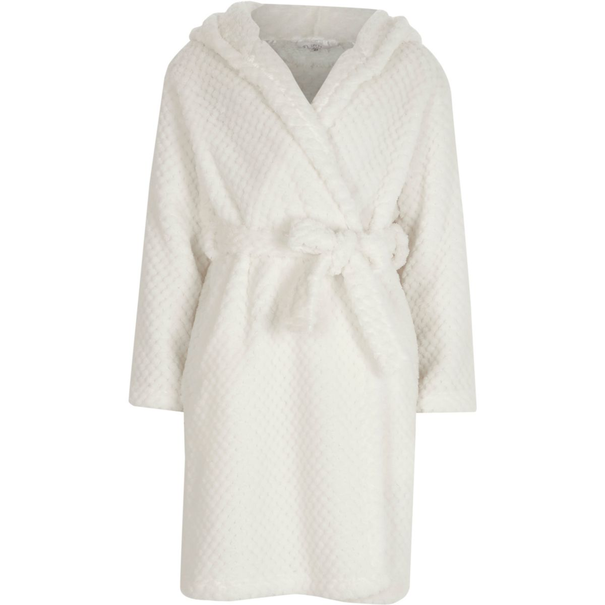 Girls cream quilted fluffy dressing gown - Pyjamas & Underwear ... : quilted dressing gown - Adamdwight.com