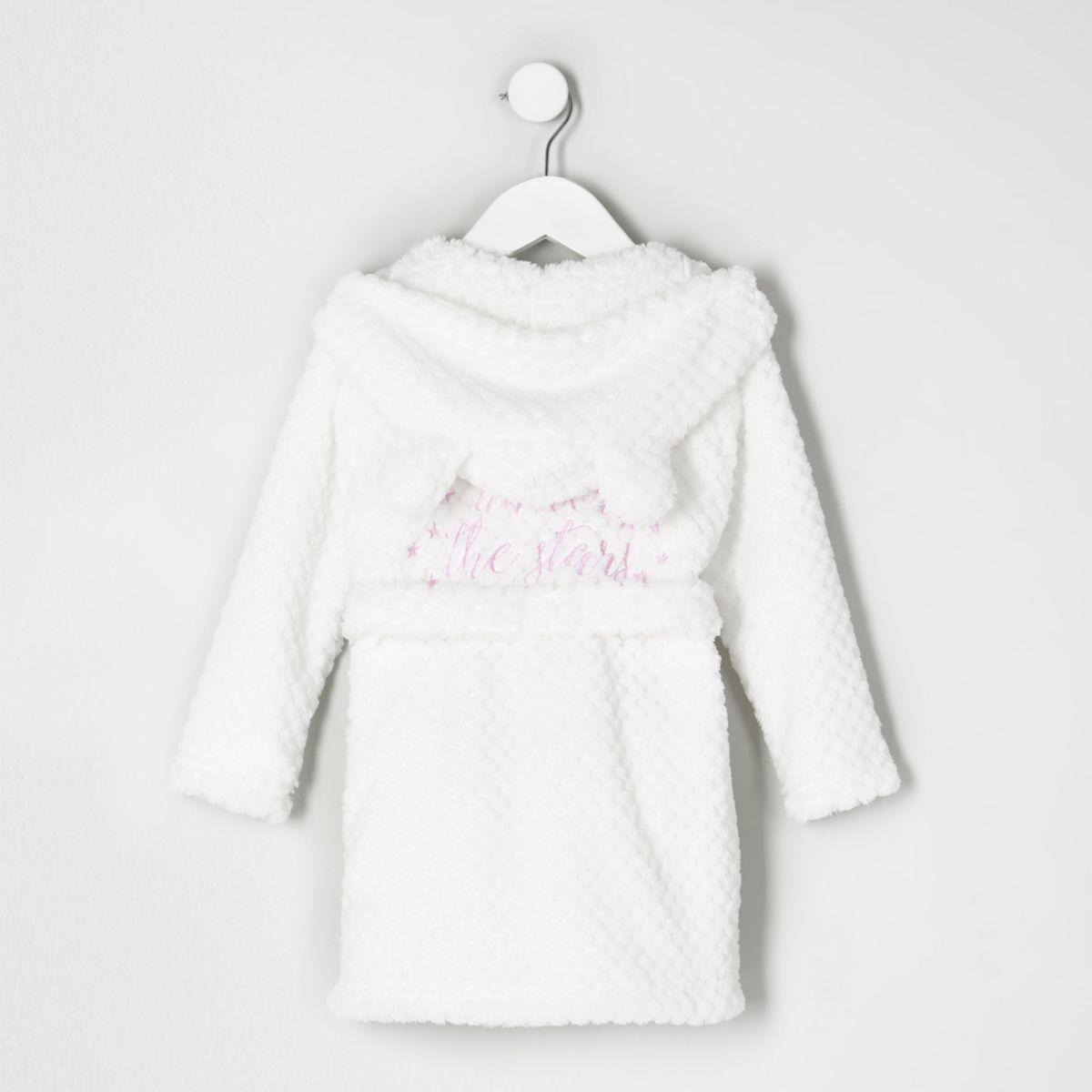 Mini girls cream quilted fluffy dressing gown - Baby Girls Pyjamas ...