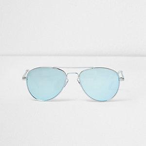 Pilotenzonnebril met blauwe glazen voor meisjes