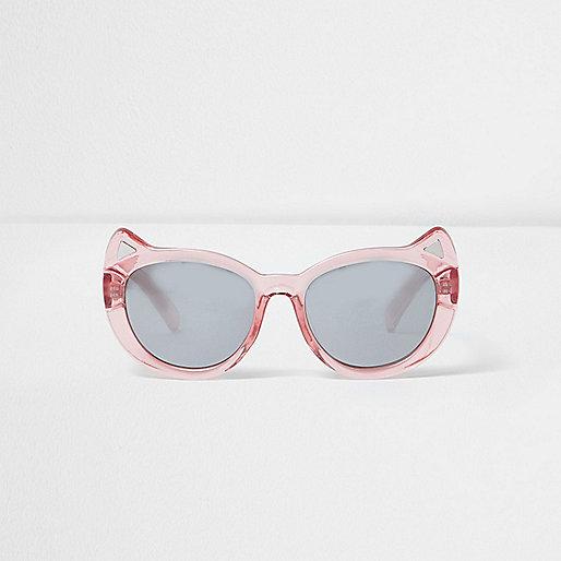 Mini girls pink cat ear sunglasses