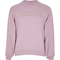 Girls purple high neck 'couture' top