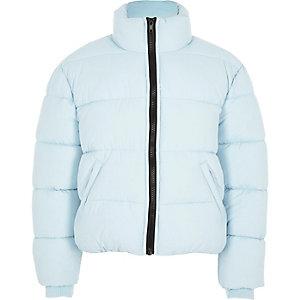 Girls blue puffer jacket