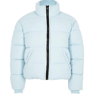 Girls blue puffer jacket