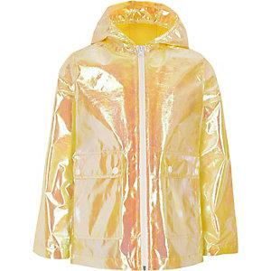 Gele iriserende regenjas voor meisjes