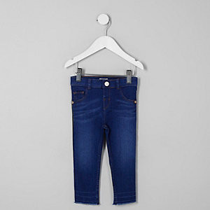 Mini girls blue Molly released hem jeggings