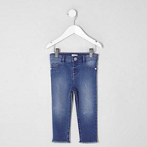 Molly – Jegging skinny bleu pour mini fille