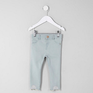 Mini girls blue Molly mid rise skinny jeans
