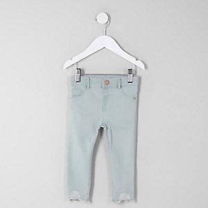 Mini - Molly - Blauw skinny jeans met halfhoge taille voor meisjes