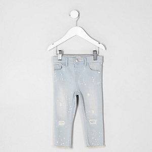 Mini girls blue Amelie super skinny jeans