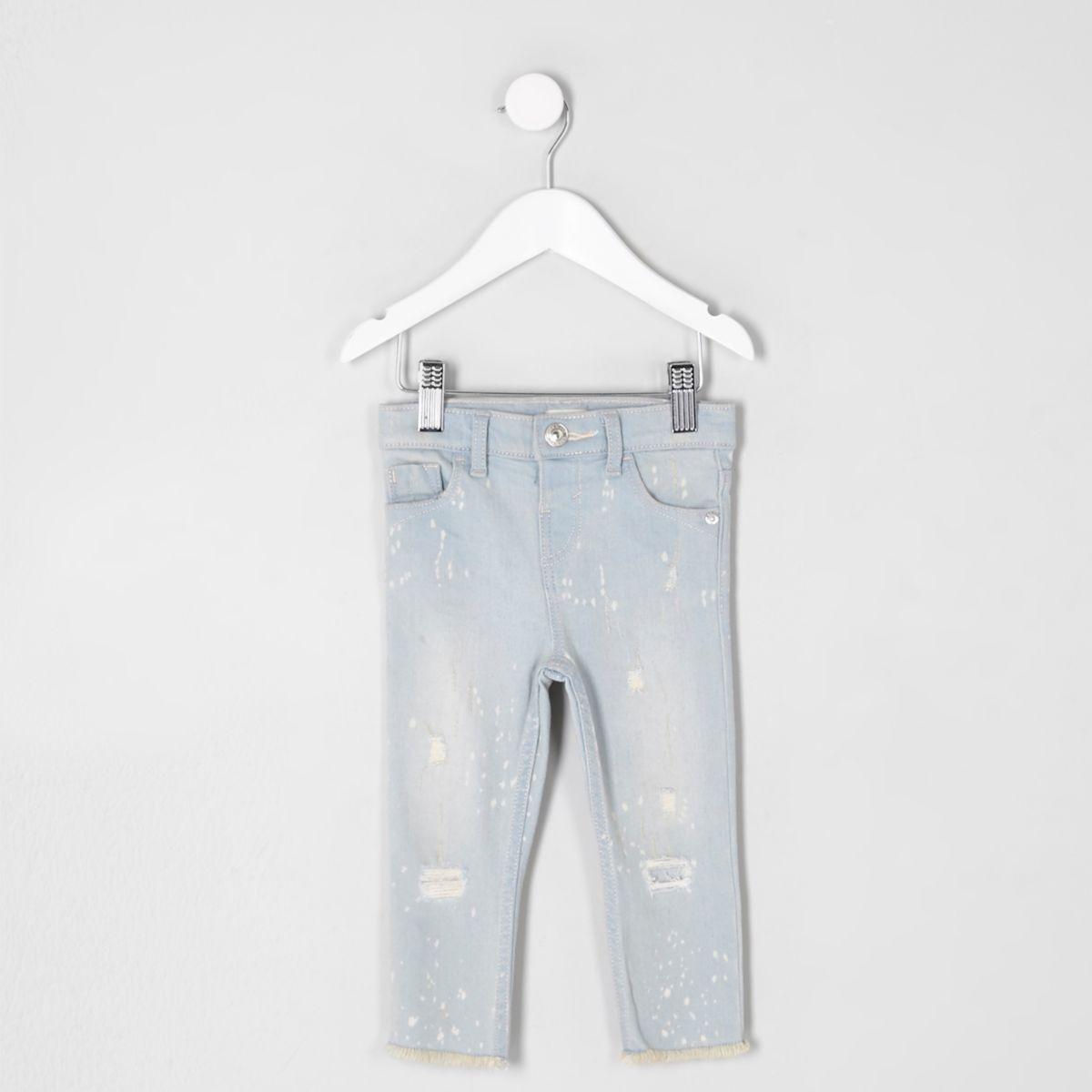 Mini girls blue Amelie super skinny jeans