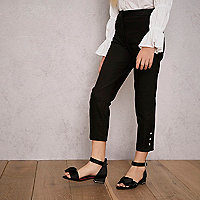 Girls black RI Studio tapered trousers