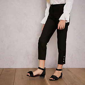 Girls black RI Studio tapered pants