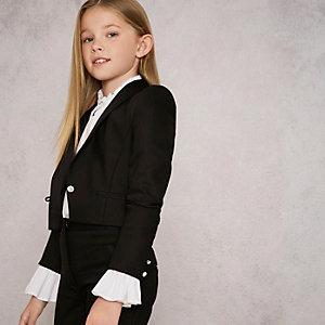 RI Studio - Zwart smokingjasje voor meisjes