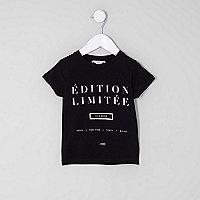 "Schwarzes T-Shirt ""Edition Limitee"""