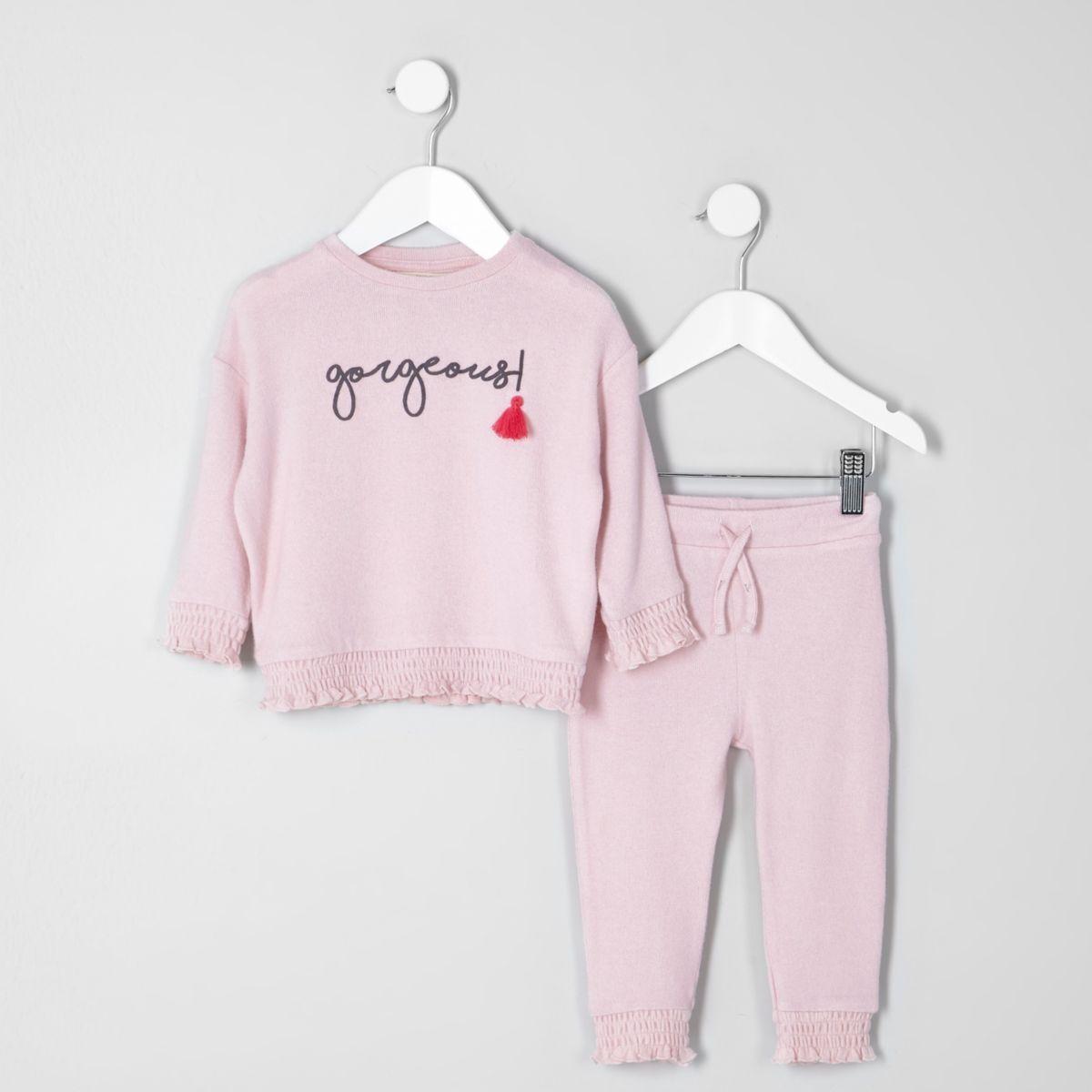 Mini girls 'gorgeous' tassel jumper outfit