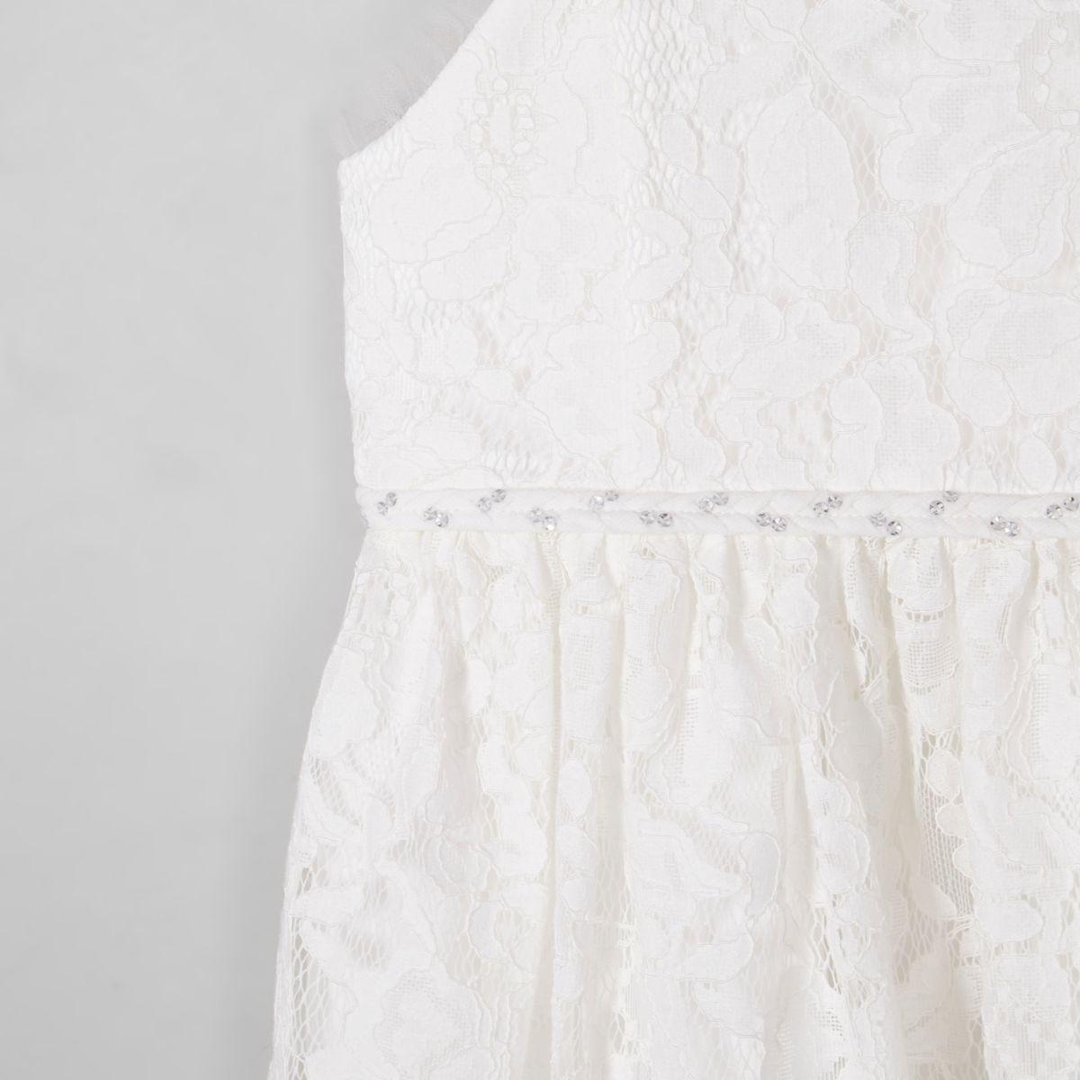 Mini girls white lace flower girl dress baby girls dresses mini mini girls white lace flower girl dress mightylinksfo