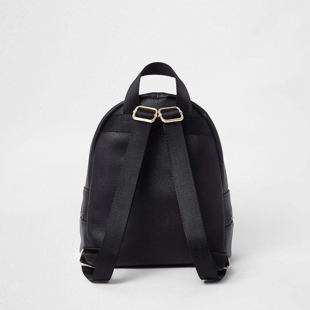 05b2e9ae76 Girls black floral print zip around backpack - Backpacks - Bags   Purses -  girls