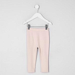 Mini - Lichtroze legging van ponte-stof voor meisjes