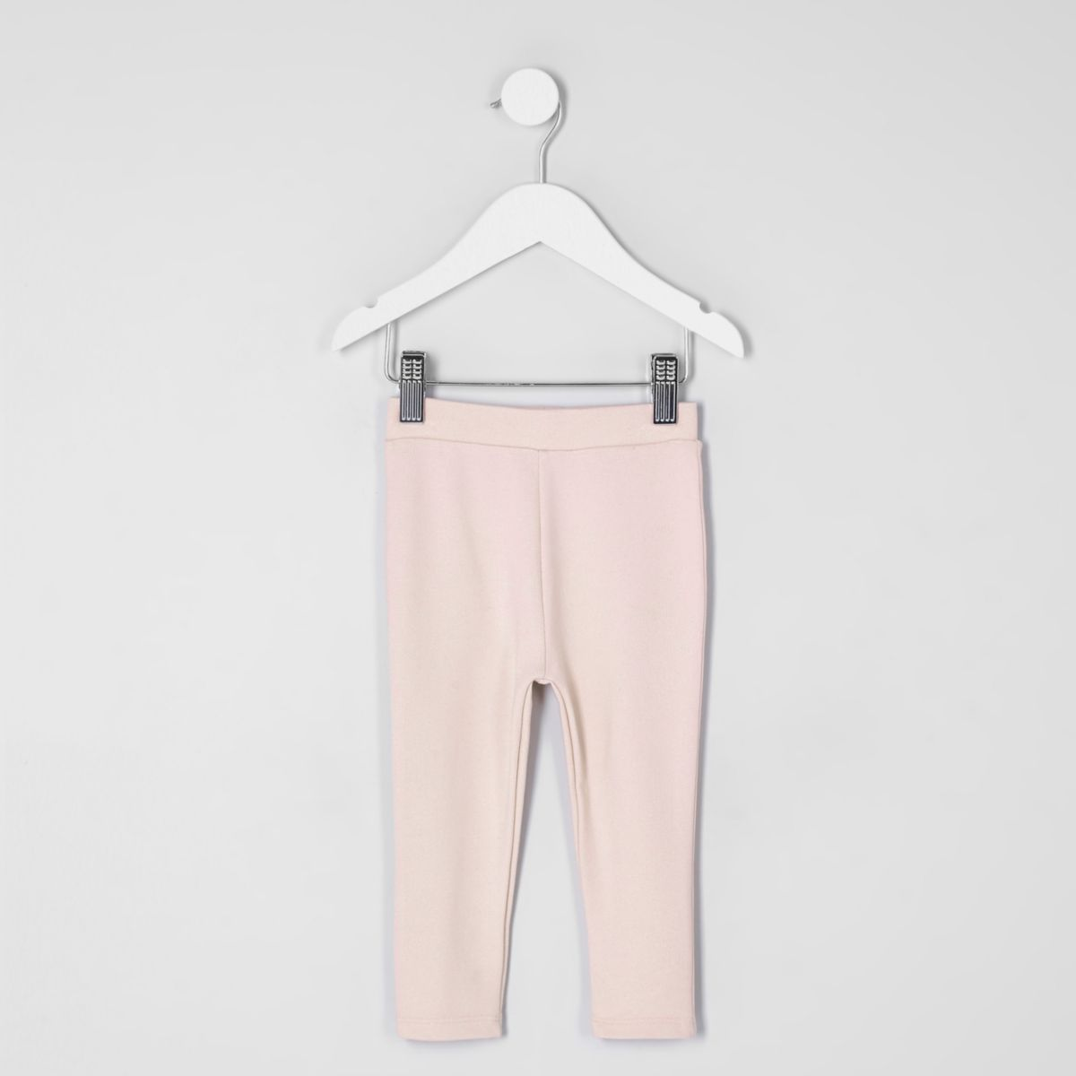 Mini girls light pink ponte leggings
