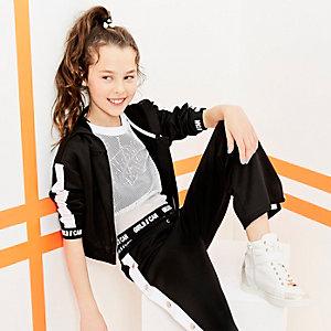 RI Active - Wit cropped T-shirt met mesh voor meisjes