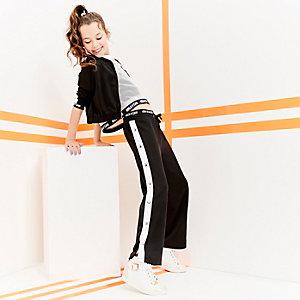 RI Active - Zwarte broek met drukknopen opzij voor meisjes
