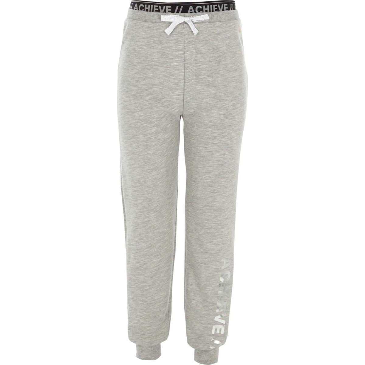 Girls RI Active grey 'achieve' joggers