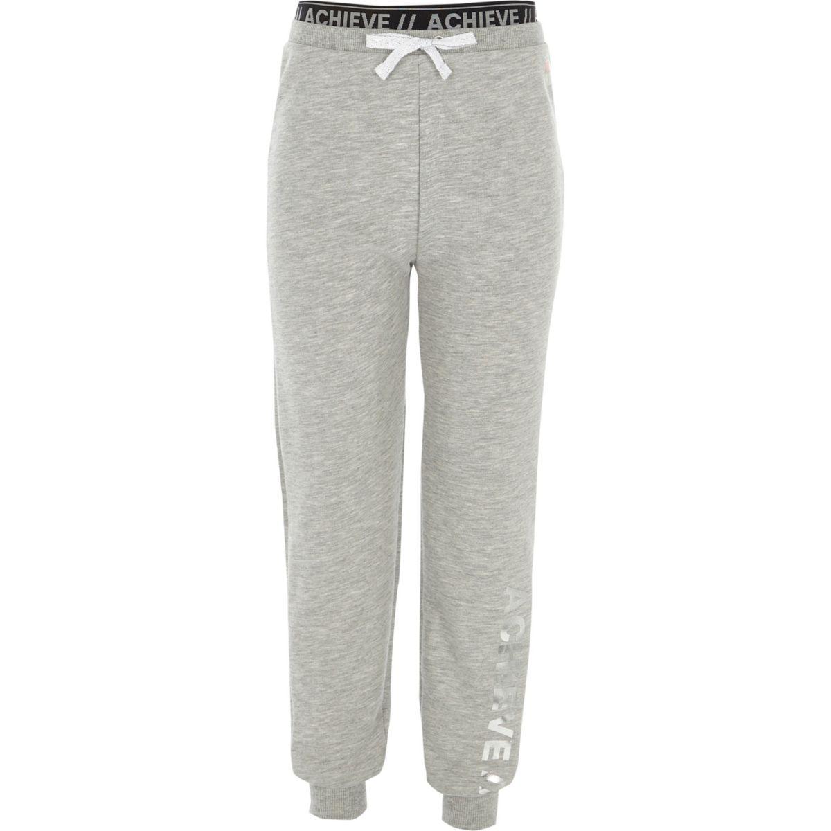 RI Active – Pantalon de jogging «achieve» gris pour fille