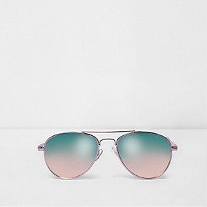 Rosa Pilotensonnenbrille für Mädchen