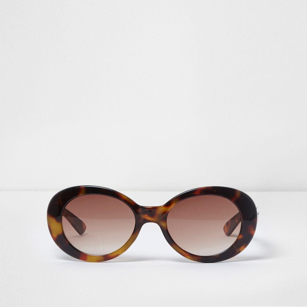Lunettes de soleil glamour monture écaille de tortue marron pour fille