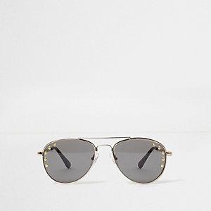 Zwarte pilotenzonnebril met studs voor meisjes