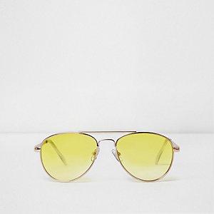 Pilotenzonnebril met gele glazen voor meisjes