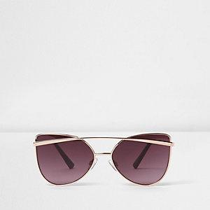 Roségoudkleurige zonnebril met brug voor meisjes