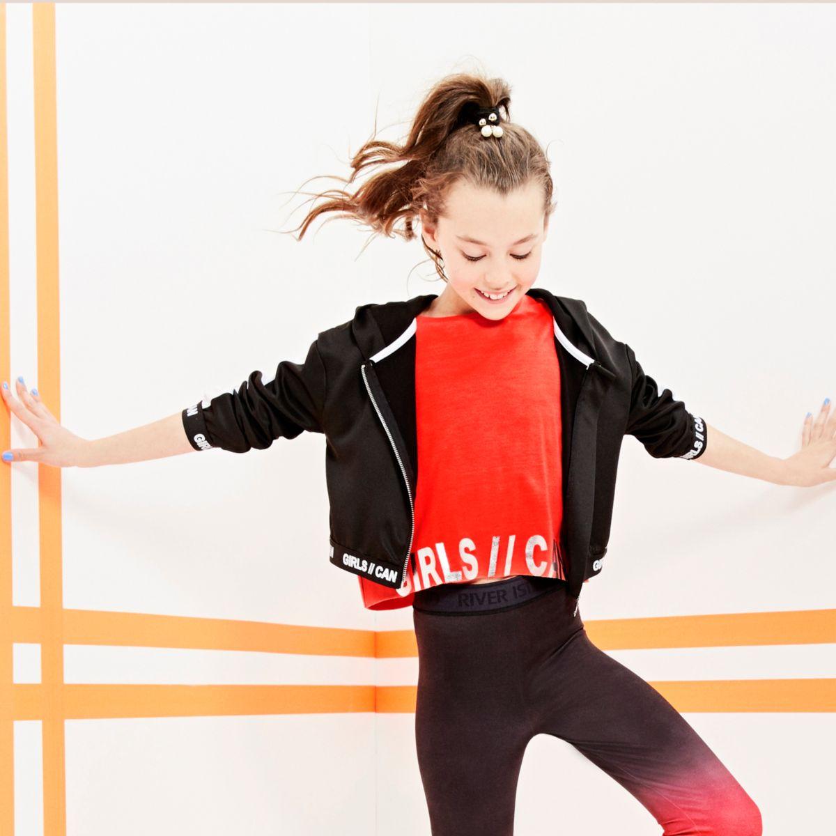 "RI Active – T-Shirt mit ""girls can""-Foliendruck"