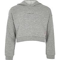 Girls RI Active grey 'girls can' hoodie