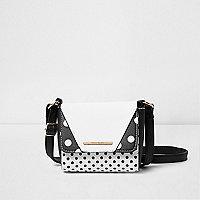 Girls black polka dot mini cross body bag