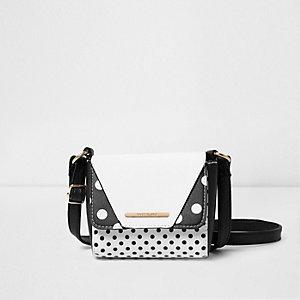 Zwarte kleine crossbodytas met stippen voor meisjes