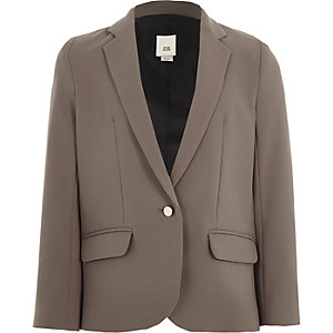 Girls mink grey blazer