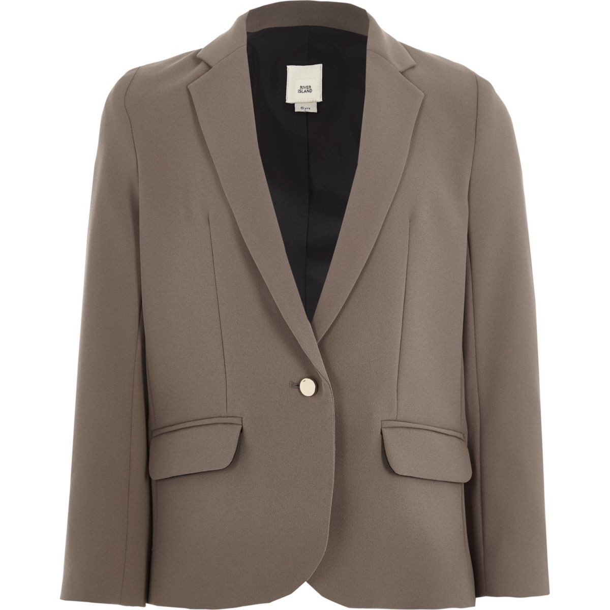 Girls mink grey blazer