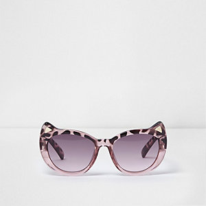 Mini girls pink tortoiseshell cat sunglasses