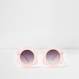 Mini girls pink flower frame sunglasses