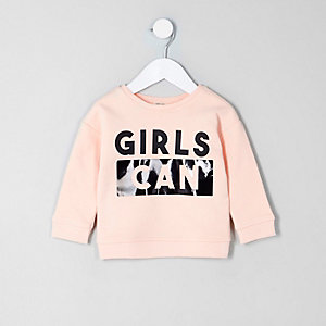 "Pinkes Sweatshirt ""Girls can"""