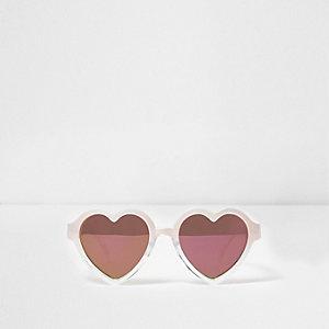 Lunettes de soleil en forme de cœur roses mini fille