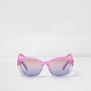 Mini girls pink ombre cat ear sunglasses