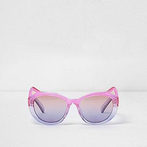 Mini - Roze ombré zonnebril met kattenoortjes voor meisjes
