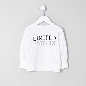 Sweat imprimé « limited edition » crème mini fille