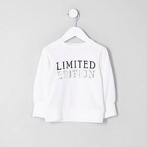 Mini - Crème 'limited edition' sweatshirt voor meisjes